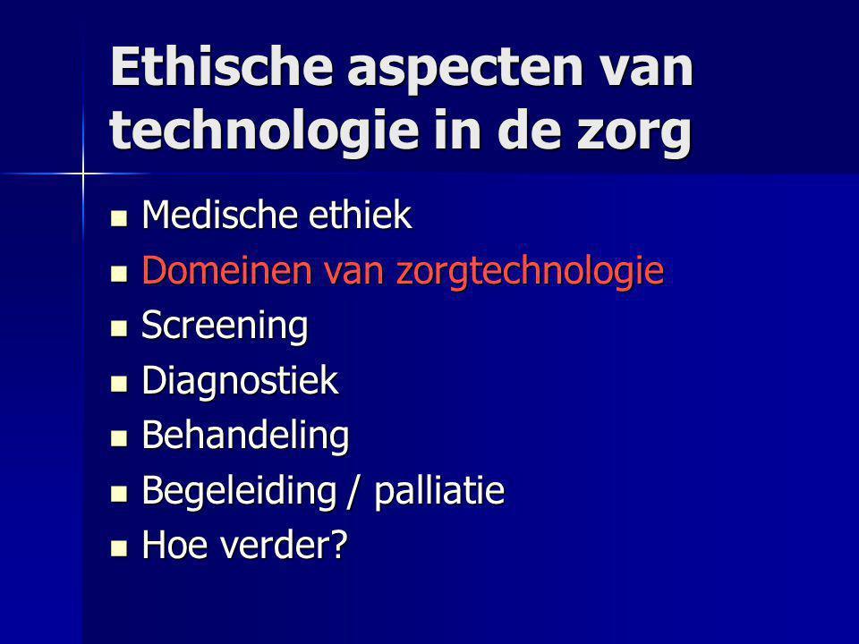 Ethische aspecten van technologie in de zorg