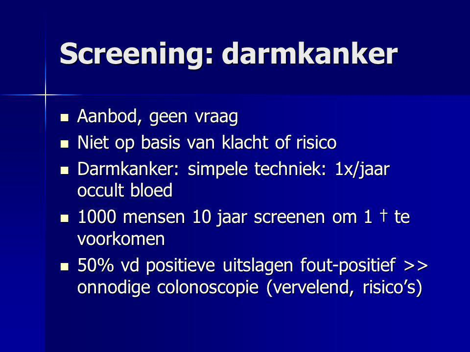 Screening: darmkanker