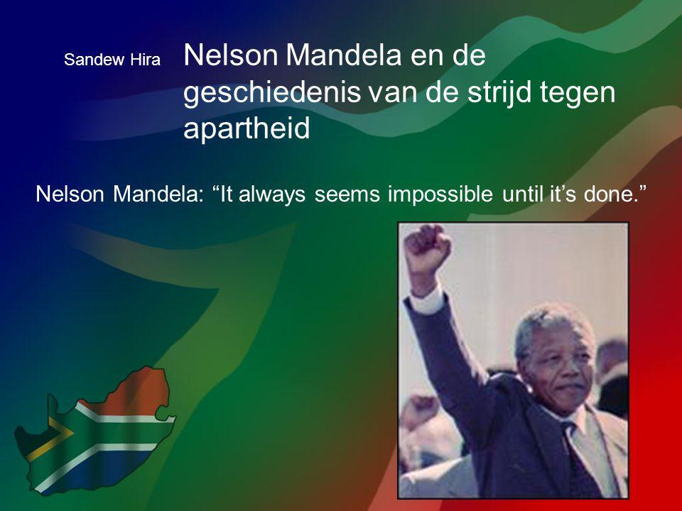 Nelson Mandela en de geschiedenis van de strijd tegen apartheid