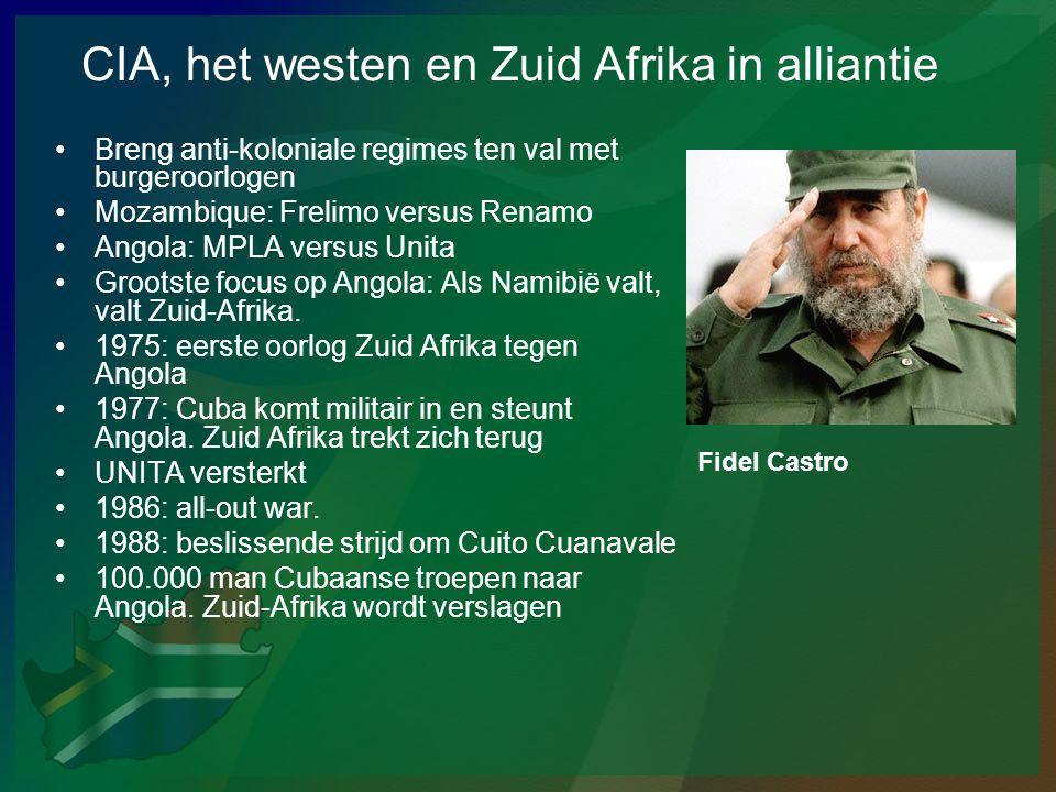 CIA, het westen en Zuid Afrika in alliantie