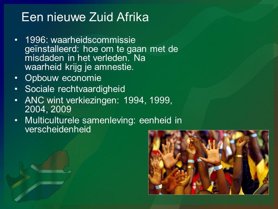 Een nieuwe Zuid Afrika 1996: waarheidscommissie geïnstalleerd: hoe om te gaan met de misdaden in het verleden. Na waarheid krijg je amnestie.