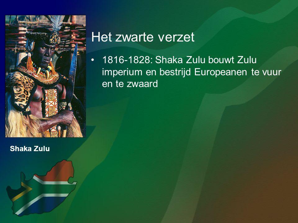 Het zwarte verzet 1816-1828: Shaka Zulu bouwt Zulu imperium en bestrijd Europeanen te vuur en te zwaard.