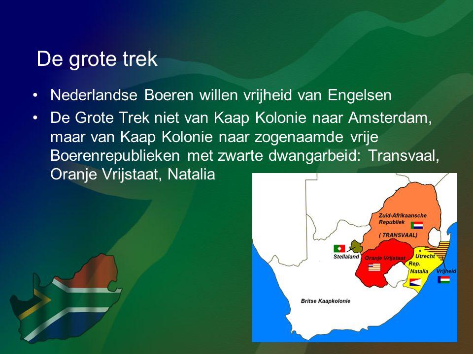 De grote trek Nederlandse Boeren willen vrijheid van Engelsen