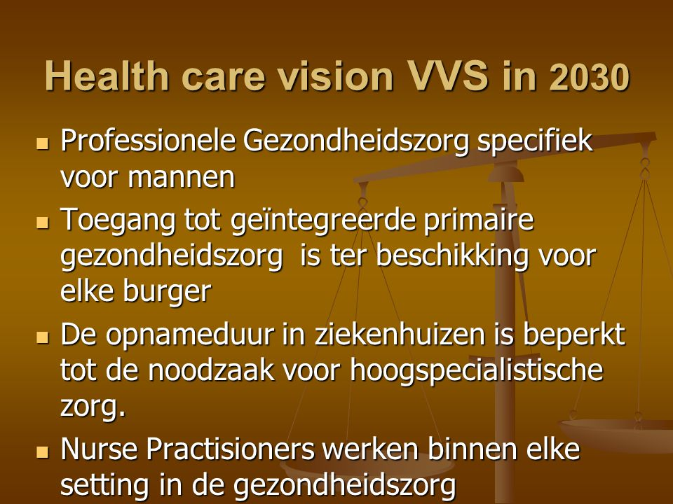 Health care vision VVS in 2030
