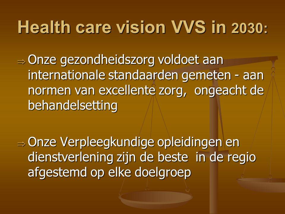 Health care vision VVS in 2030: