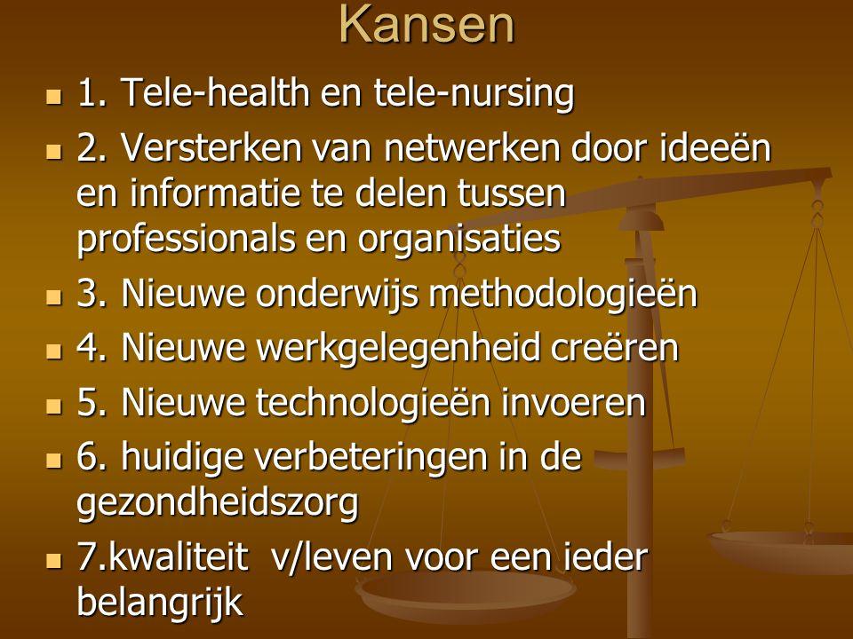 Kansen 1. Tele-health en tele-nursing