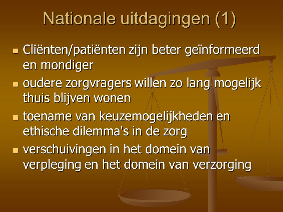 Nationale uitdagingen (1)