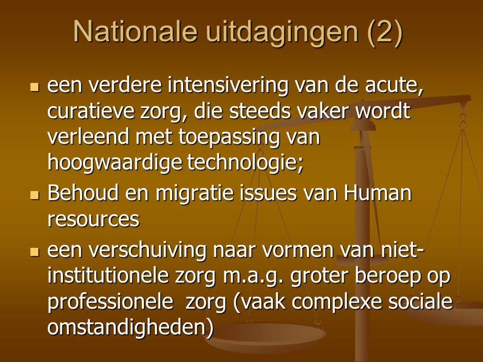Nationale uitdagingen (2)