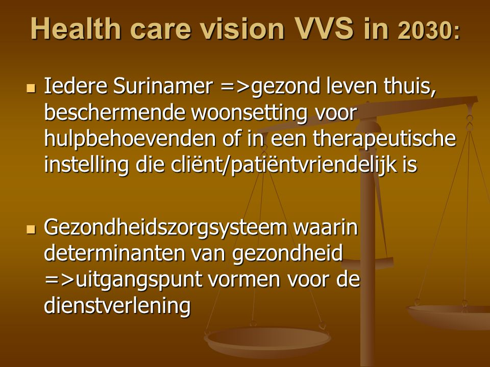 Health care vision VVS in 2030: