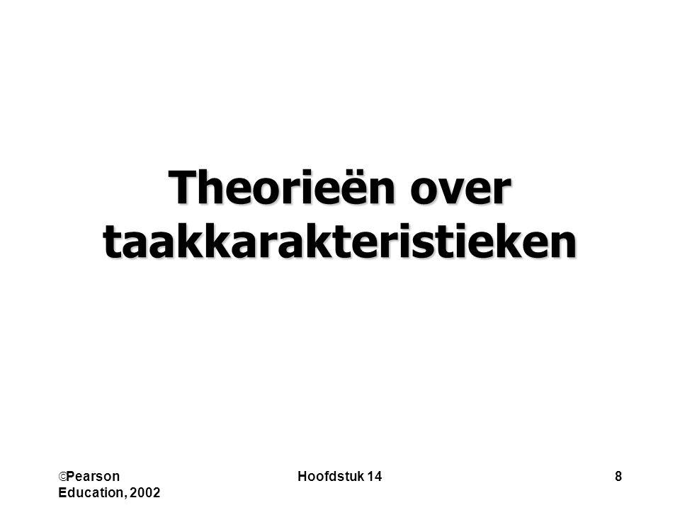 Theorieën over taakkarakteristieken