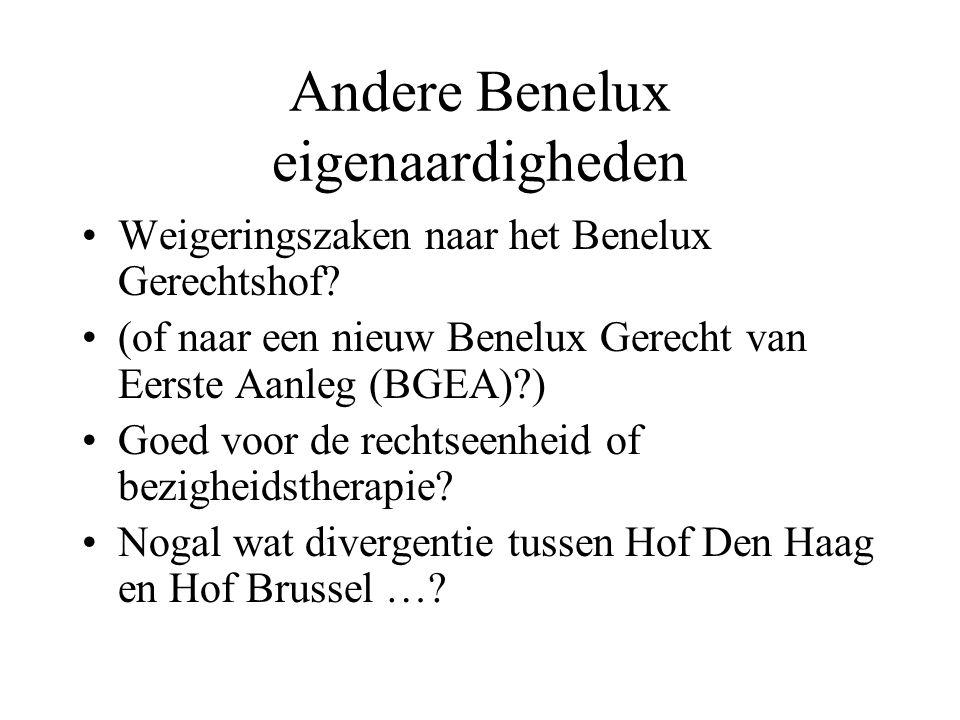 Andere Benelux eigenaardigheden