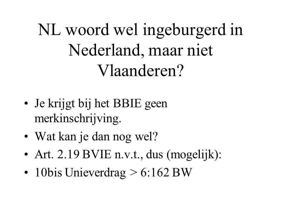 NL woord wel ingeburgerd in Nederland, maar niet Vlaanderen