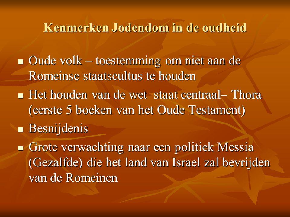 Kenmerken Jodendom in de oudheid