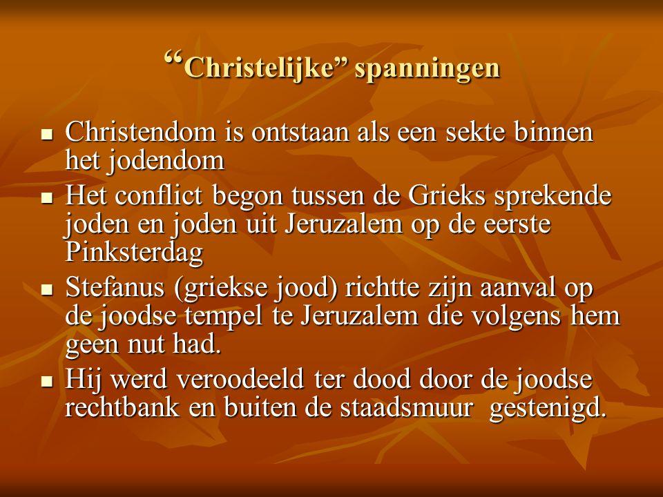 Christelijke spanningen