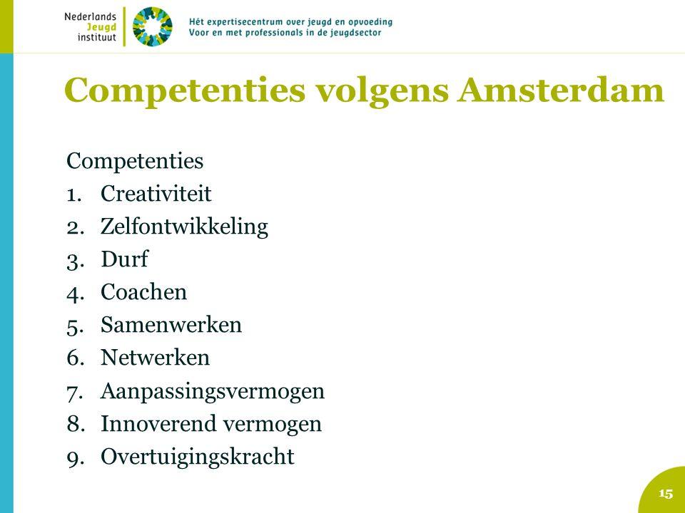 Competenties volgens Amsterdam