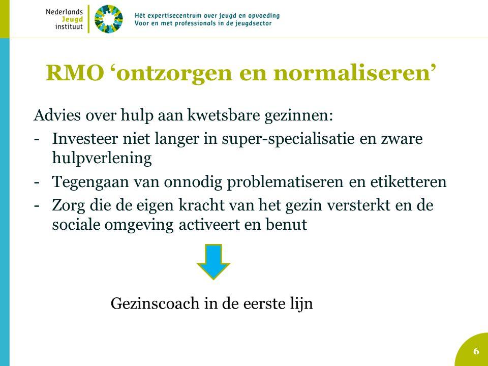 RMO 'ontzorgen en normaliseren'