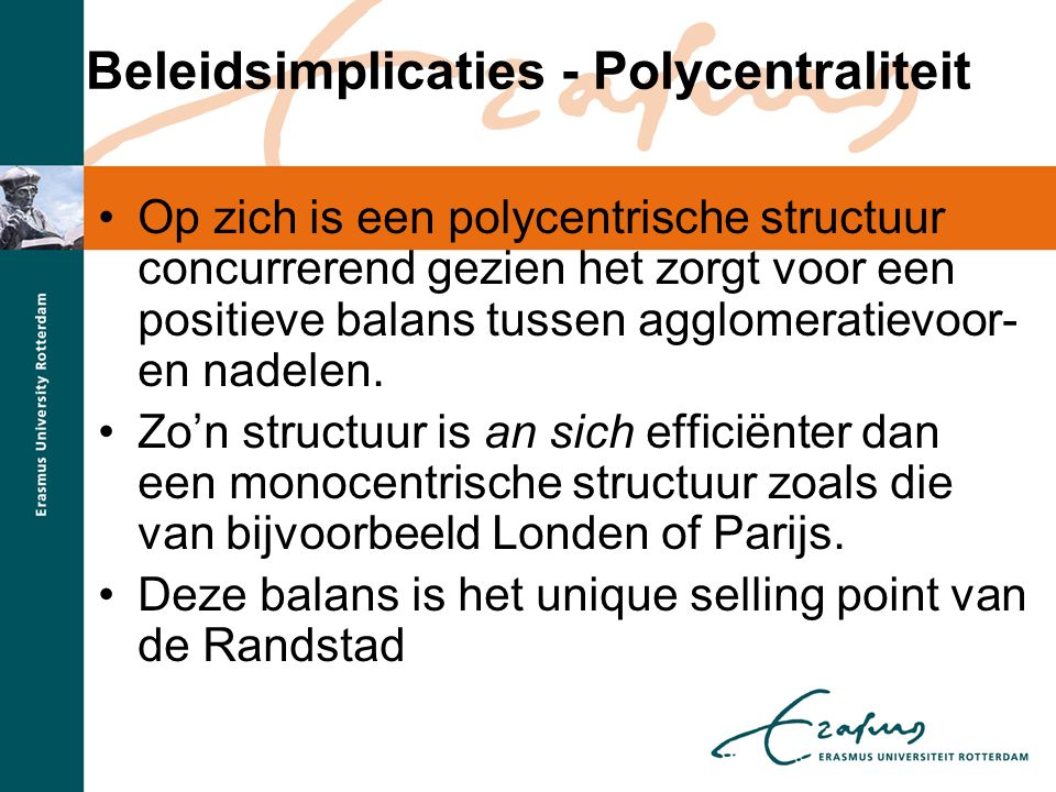 Beleidsimplicaties - Polycentraliteit
