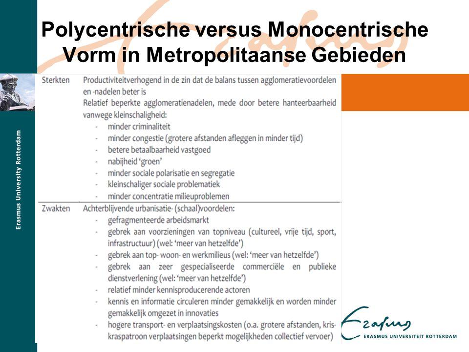 Polycentrische versus Monocentrische Vorm in Metropolitaanse Gebieden