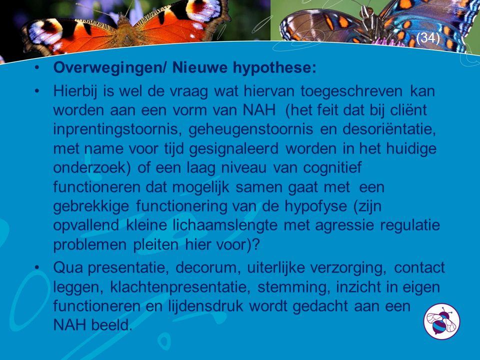 Overwegingen/ Nieuwe hypothese:
