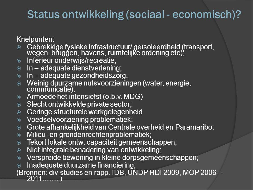 Status ontwikkeling (sociaal - economisch)