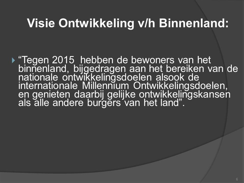 Visie Ontwikkeling v/h Binnenland: