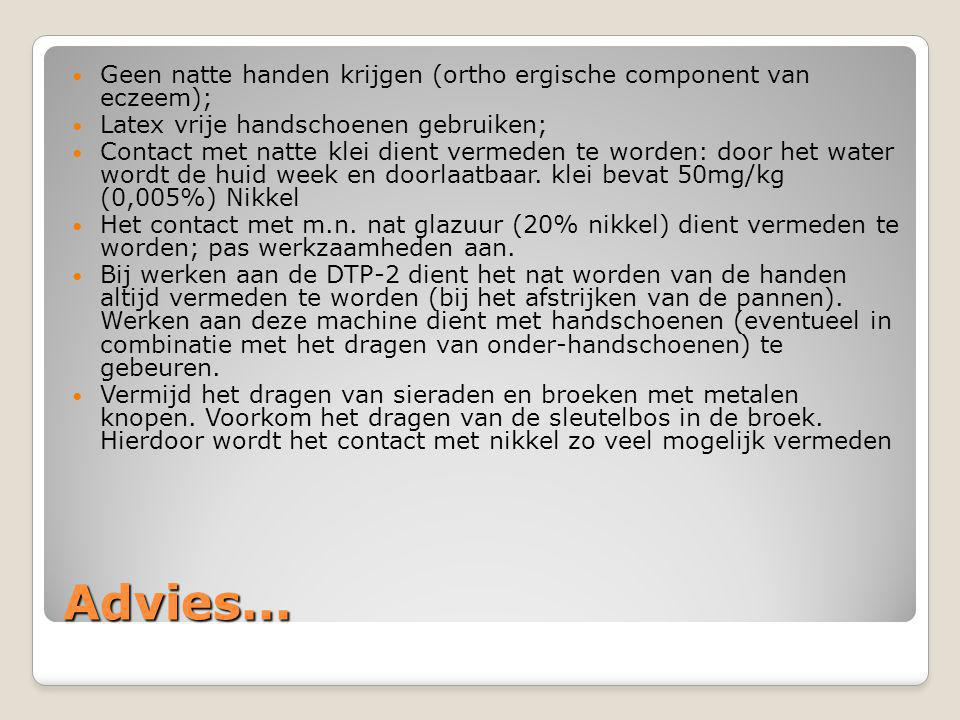 Geen natte handen krijgen (ortho ergische component van eczeem);