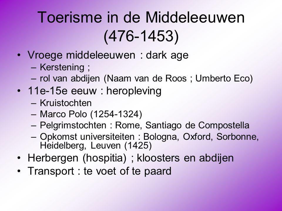Toerisme in de Middeleeuwen (476-1453)