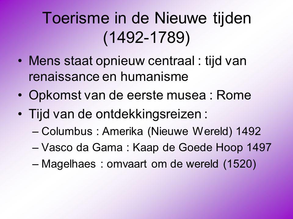 Toerisme in de Nieuwe tijden (1492-1789)