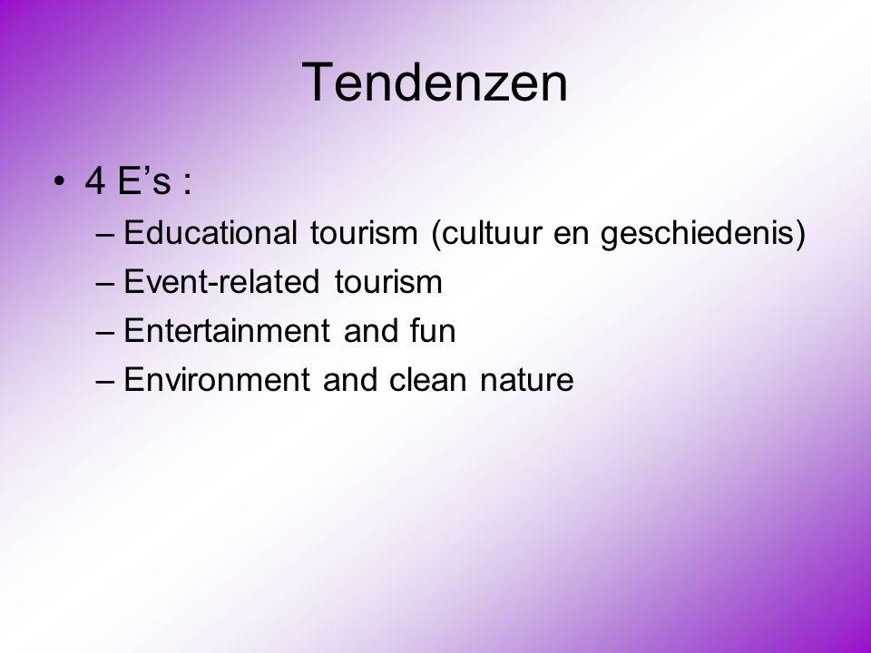 Tendenzen 4 E's : Educational tourism (cultuur en geschiedenis)
