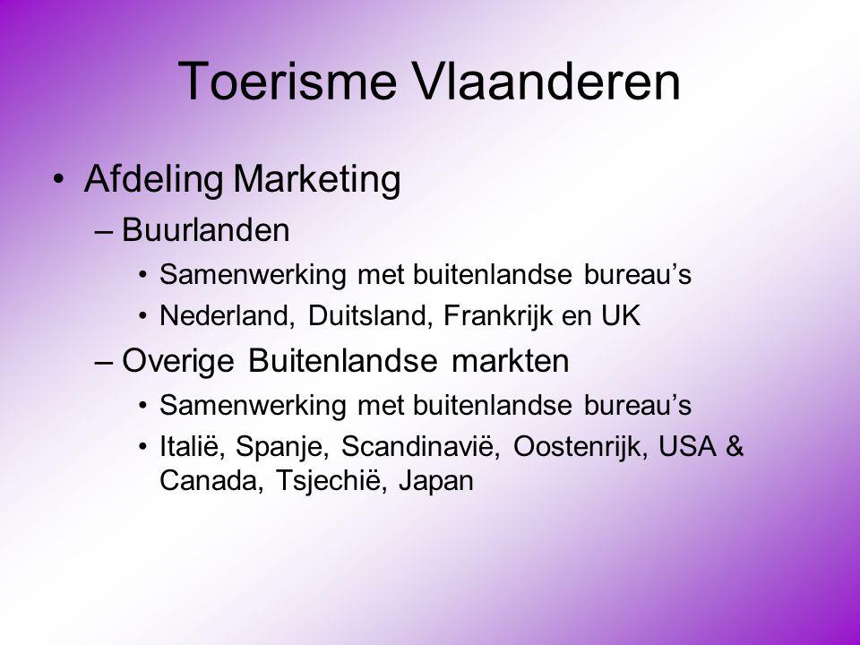 Toerisme Vlaanderen Afdeling Marketing Buurlanden