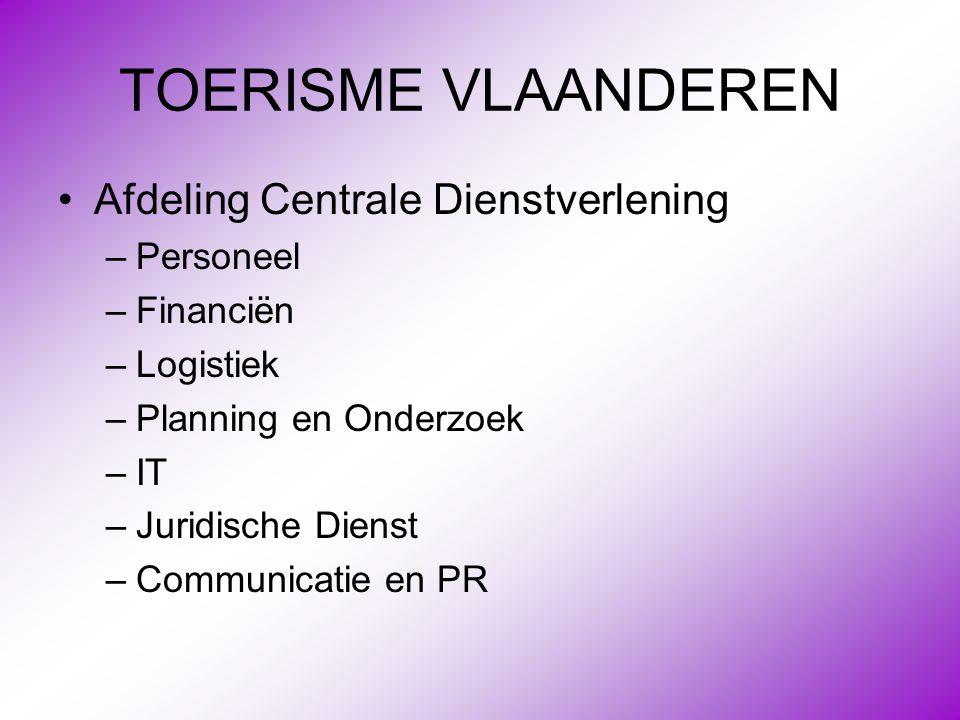 TOERISME VLAANDEREN Afdeling Centrale Dienstverlening Personeel