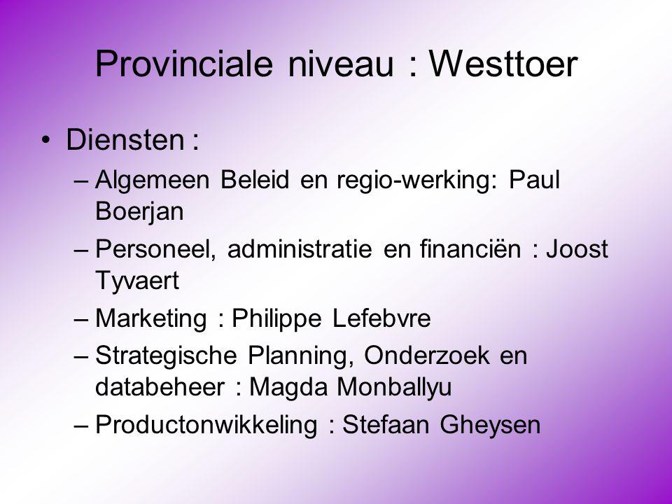 Provinciale niveau : Westtoer
