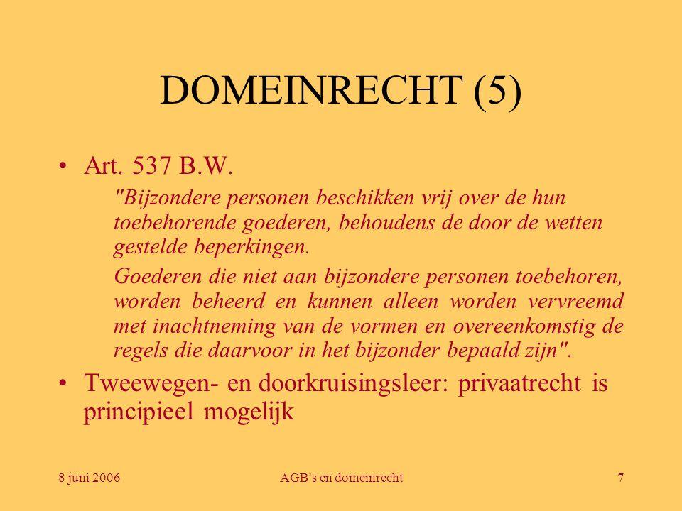 DOMEINRECHT (5) Art. 537 B.W.