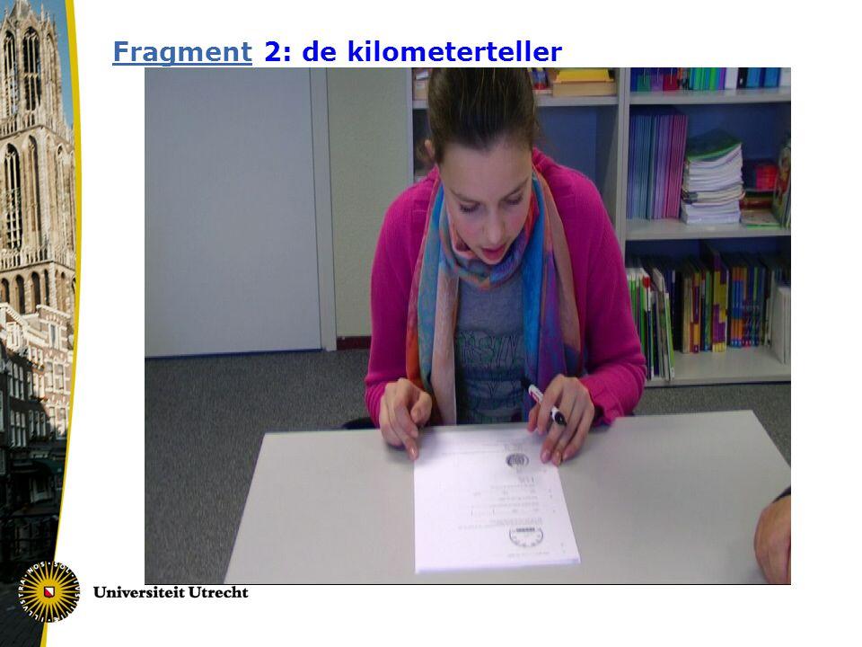 Fragment 2: de kilometerteller