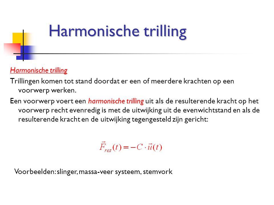 Harmonische trilling Harmonische trilling