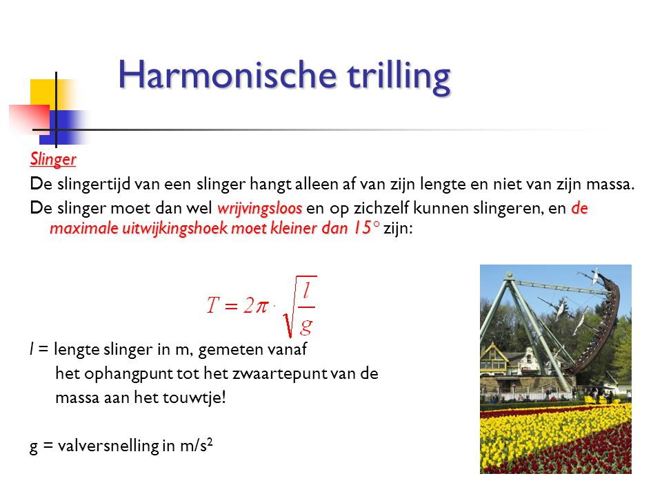 Harmonische trilling Slinger