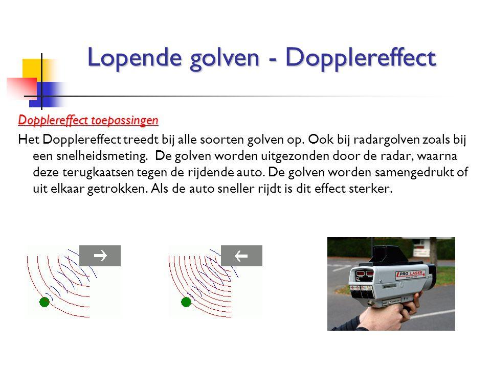 Lopende golven - Dopplereffect