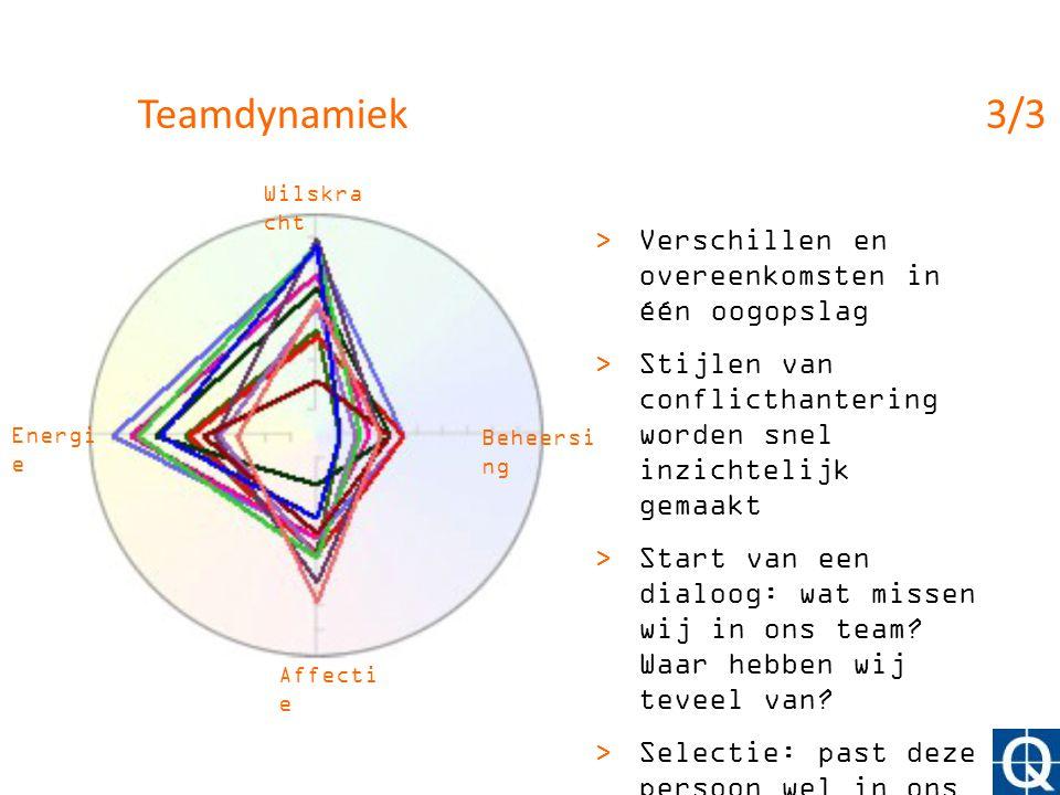 Teamdynamiek 3/3 Verschillen en overeenkomsten in één oogopslag