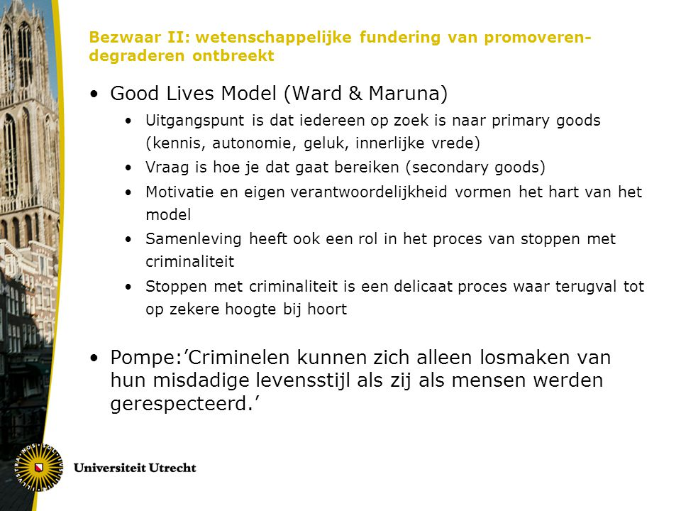 Good Lives Model (Ward & Maruna)