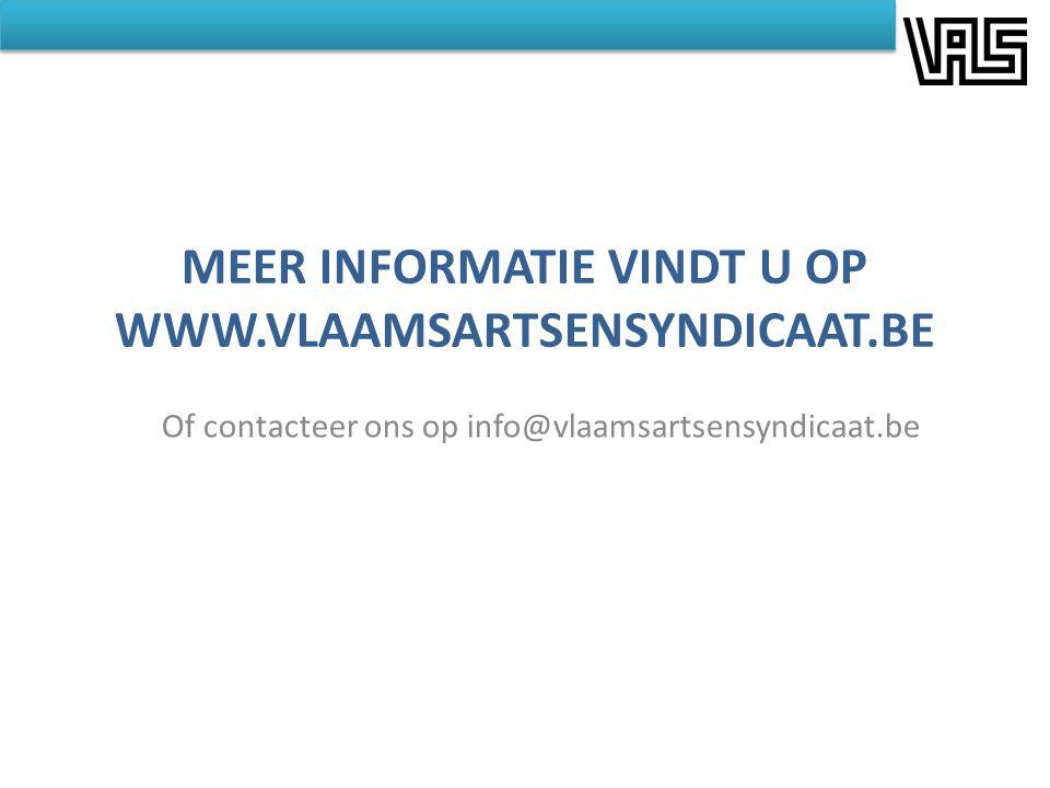 Meer informatie vindt u op www.vlaamsartsensyndicaat.be