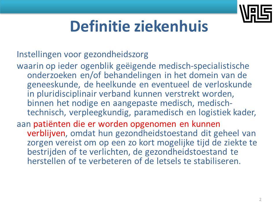 Definitie ziekenhuis