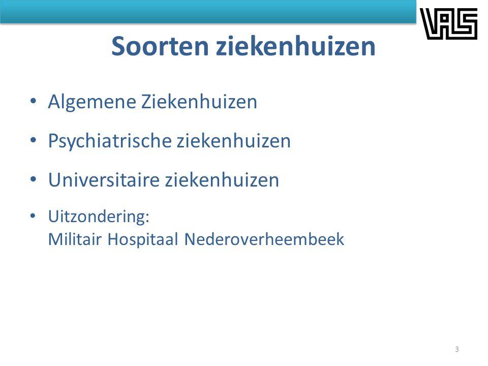 Soorten ziekenhuizen Algemene Ziekenhuizen Psychiatrische ziekenhuizen