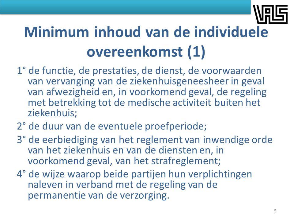 Minimum inhoud van de individuele overeenkomst (1)