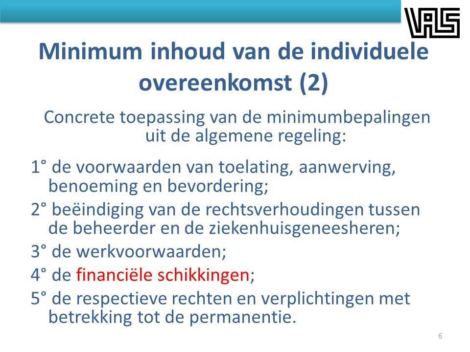 Minimum inhoud van de individuele overeenkomst (2)