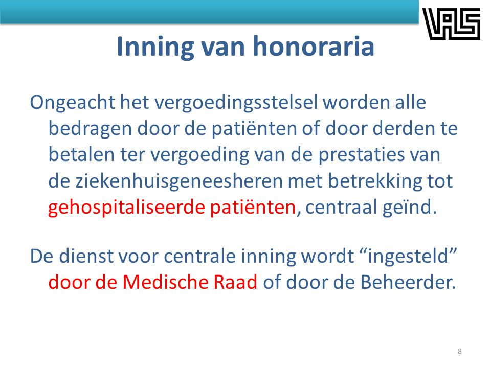 Inning van honoraria