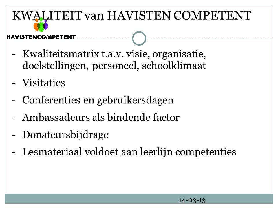 KWALITEIT van HAVISTEN COMPETENT