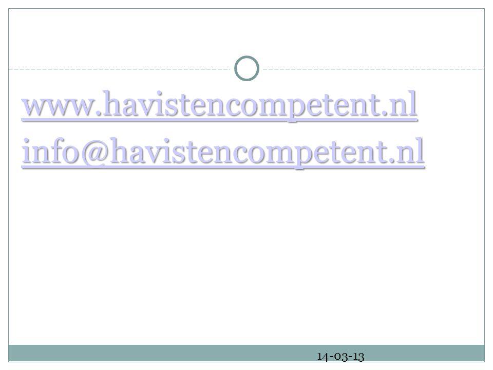 www.havistencompetent.nl info@havistencompetent.nl