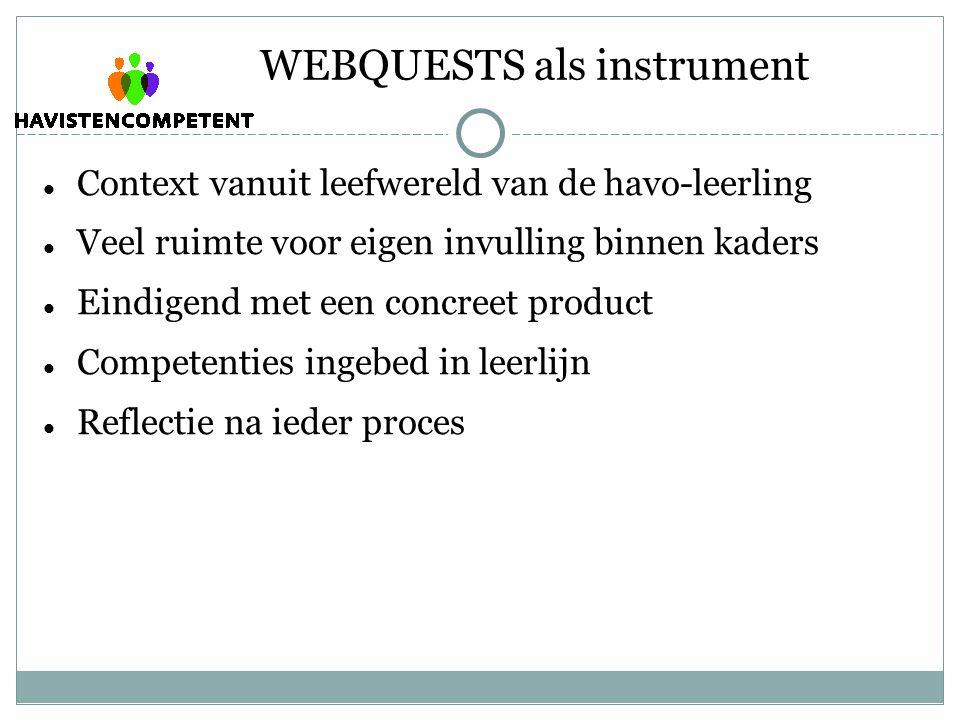 WEBQUESTS als instrument