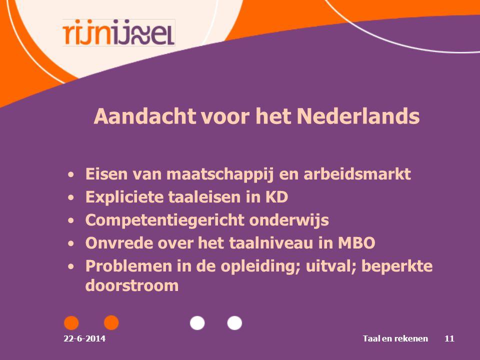 Aandacht voor het Nederlands