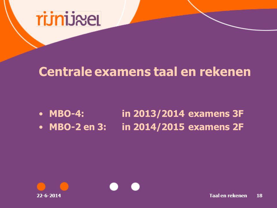 Centrale examens taal en rekenen